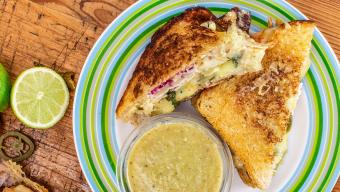 Turkey Grilled Cheese with Suiza Dipper
