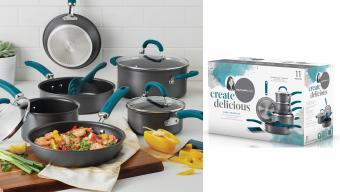 Rachael Ray Create Delicious 11-Pc. Hard-Anodized Cookware Set