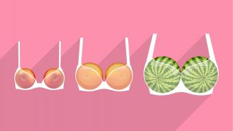different fruits representing breasts