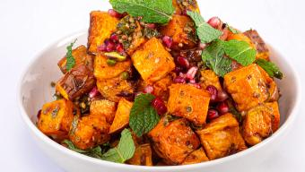 Roasted Sweet Potatoes with Coriander Vinaigrette