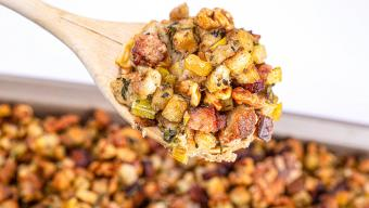 Italian Sausage, Browned Butter, Apple & Onion Stuffing