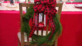 chair wreath
