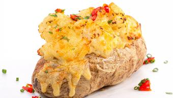 Twice-Baked Dinner Potatoes with Cauliflower