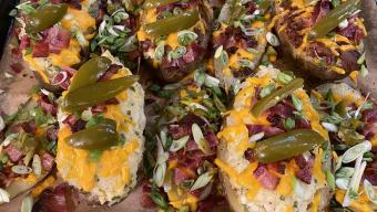 Deep Dish Stuffed Potatoes with Brisket