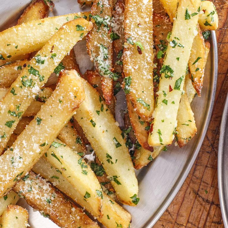 beef fat fried potatoes