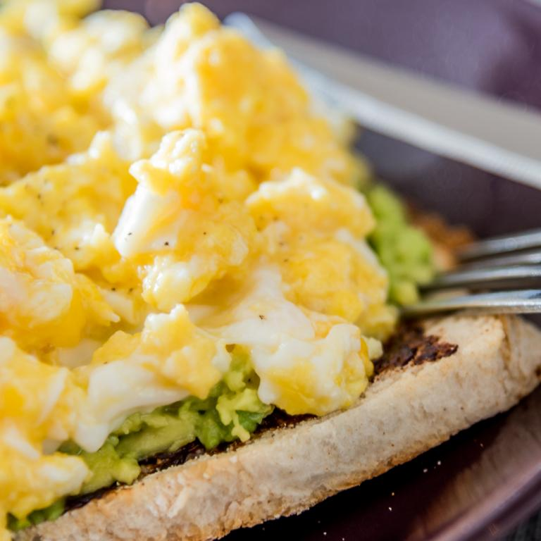 Avocado Toast with Scrambled Eggs