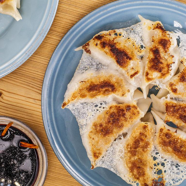 Pork and Cabbage Pan-Fried Dumplings