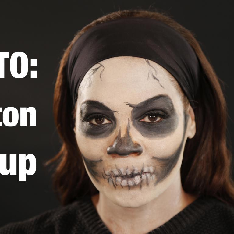 skeleton makeup howto