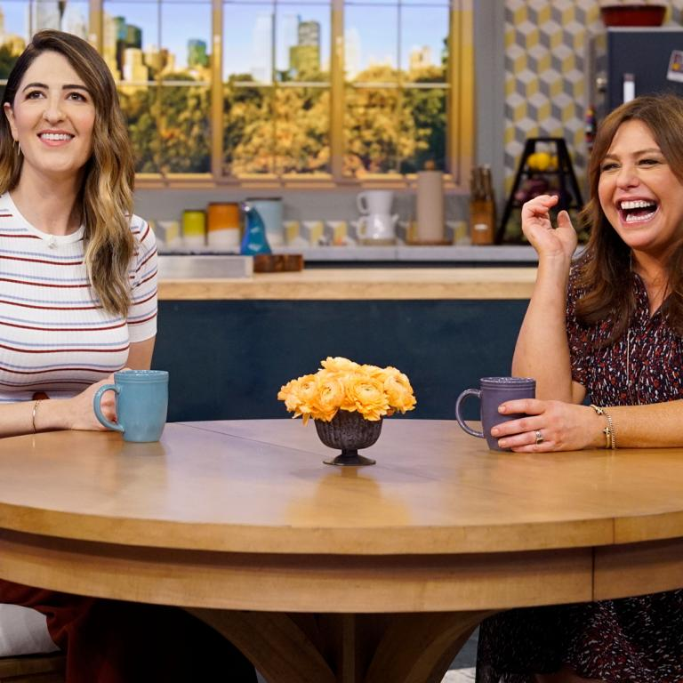 D'Arcy Carden and Rachael Ray