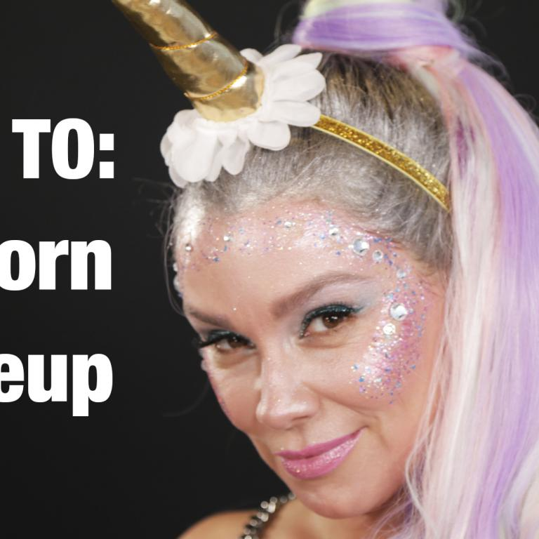 Unicorn makeup howto