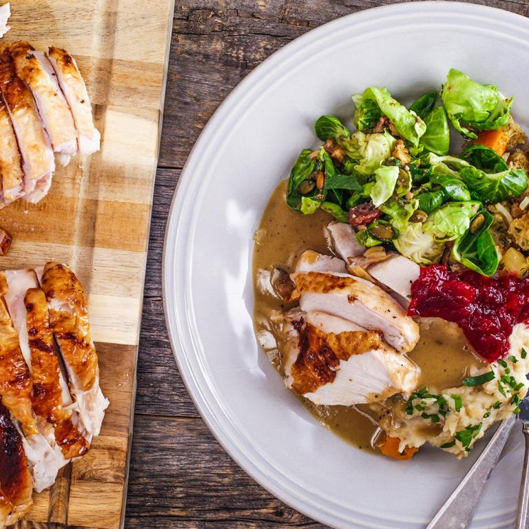 Hard Cider Brined Turkey