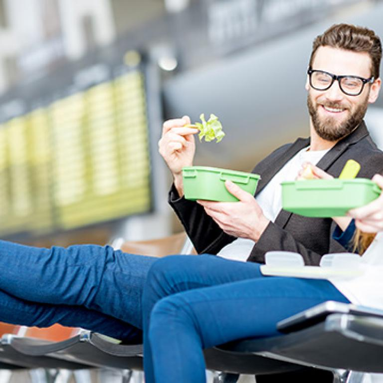 What to Eat Before a Flight