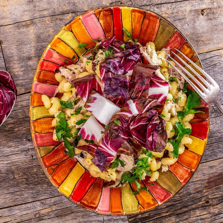 Rachael's Artichoke Pasta with Chicken & Radicchio