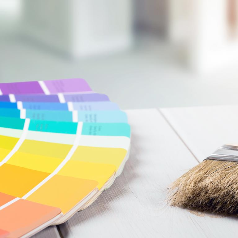color wheel paint options