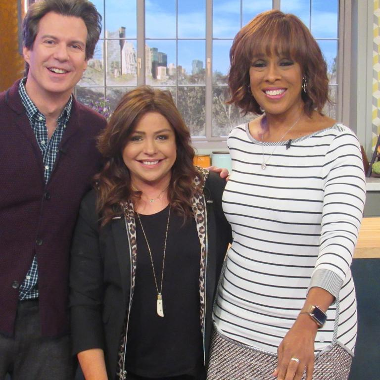Adam Glassman, Gayle King and Rachael Ray