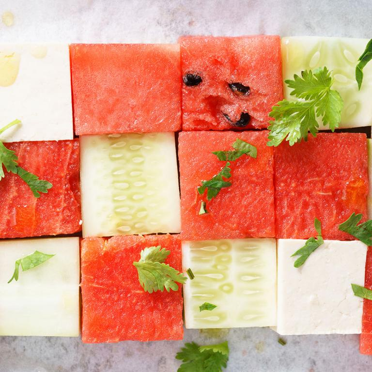Feta, Watermelon, Cucumber