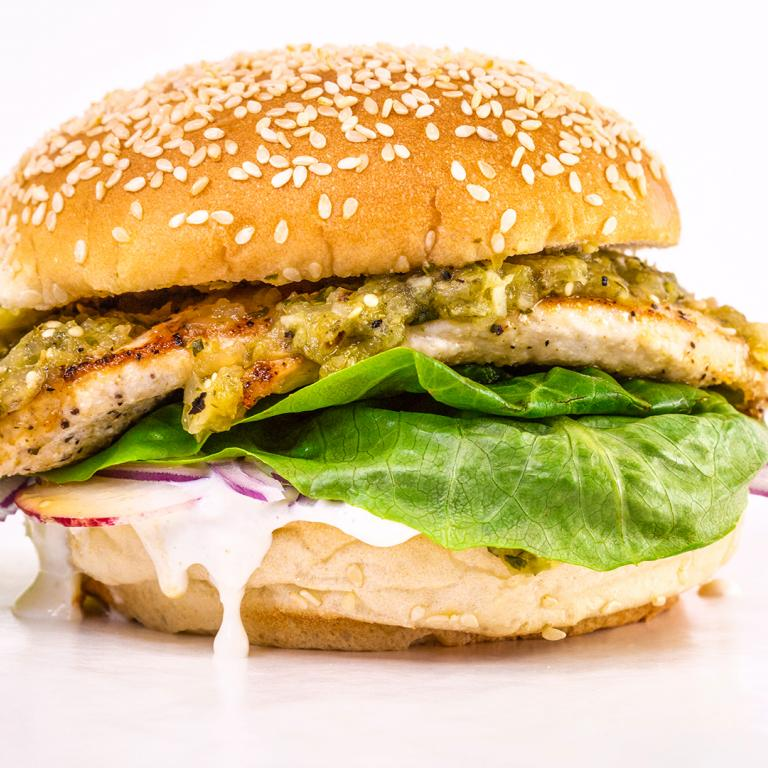 Rachael's Salsa Verde Chicken Sandwiches