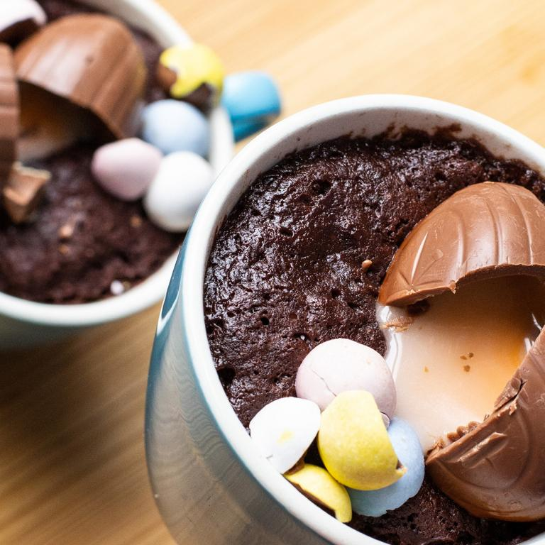Chocolate Creme Egg Mug Cake