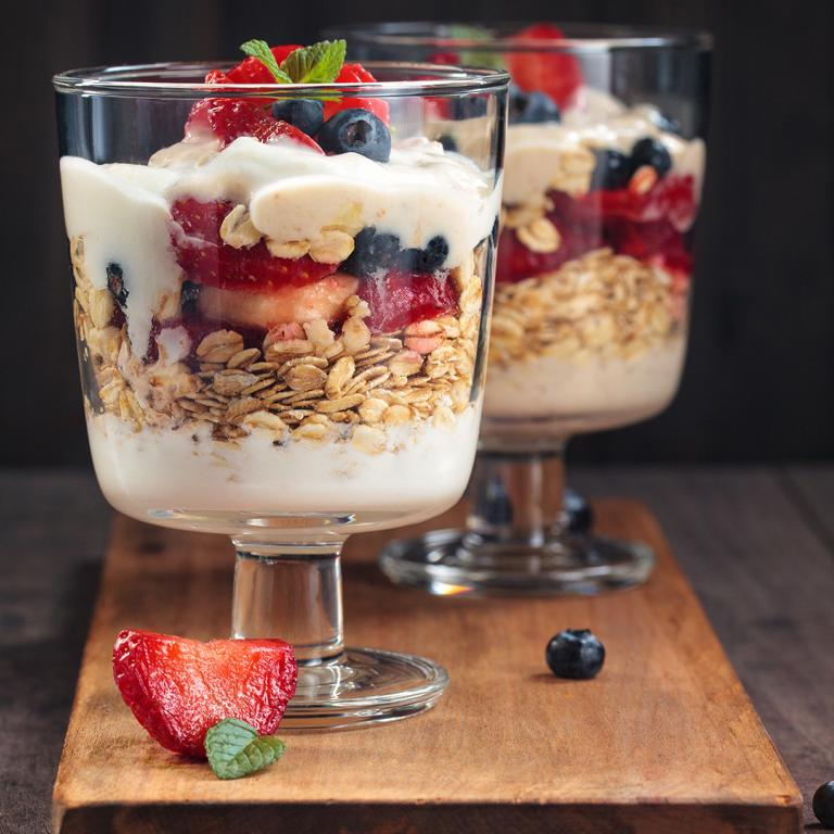 Yogurt Parfaits with Berries and Banana