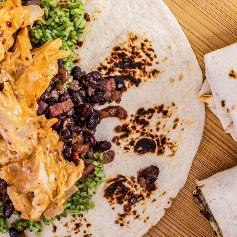 Rachael's Chipotle Chicken and Black Bean Burritos
