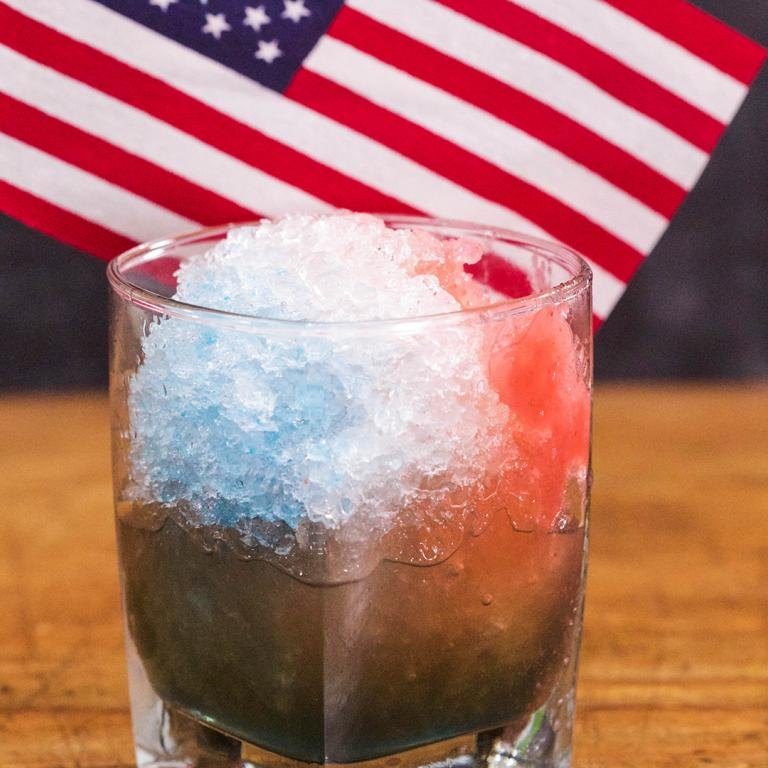 Clinton Kelly's Red, White, and Blue Snow Cones