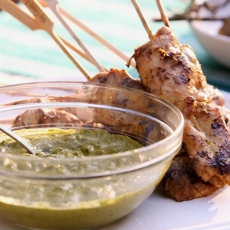 Richard Blais' Chicken Tandoori Skewers