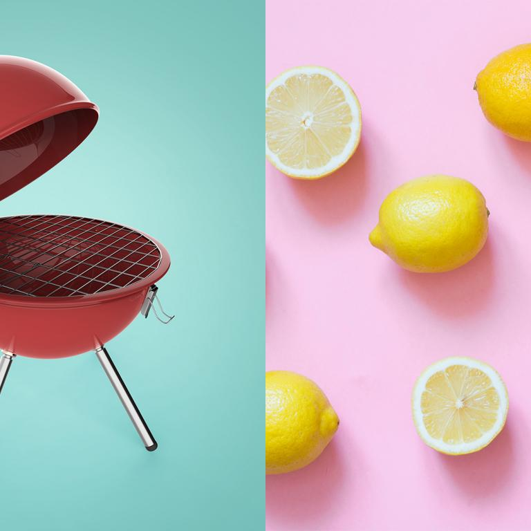 grill and lemons