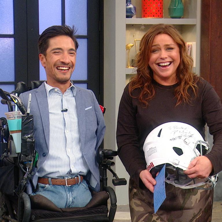 coach rob mendez and rachael ray