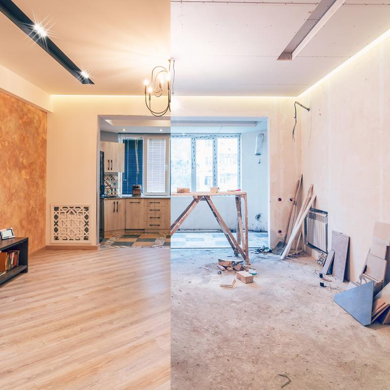 home renovation before and after