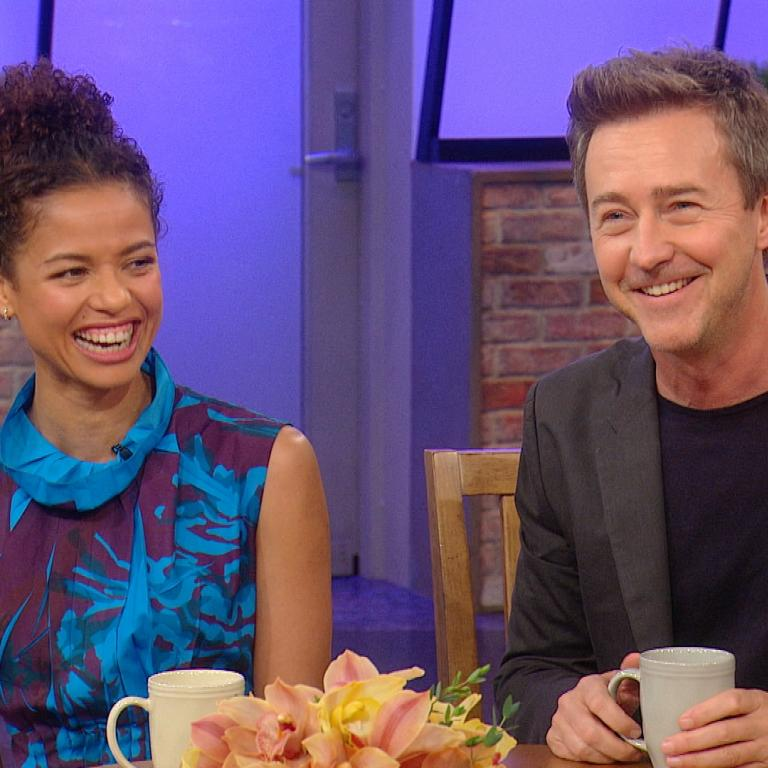 Edward Norton and Gugu Mbatha-Raw
