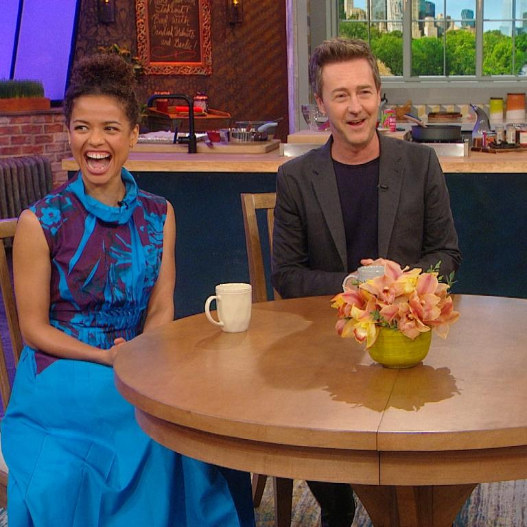 Edward Norton, Gugu Mbatha-Raw and Rachael Ray