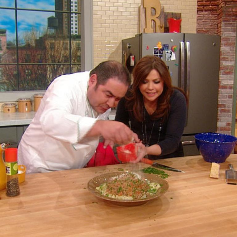 Emeril Lagasse Finishes Making His True Bolognese