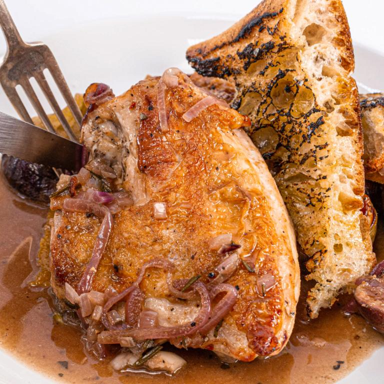 Skillet Chicken with Figs