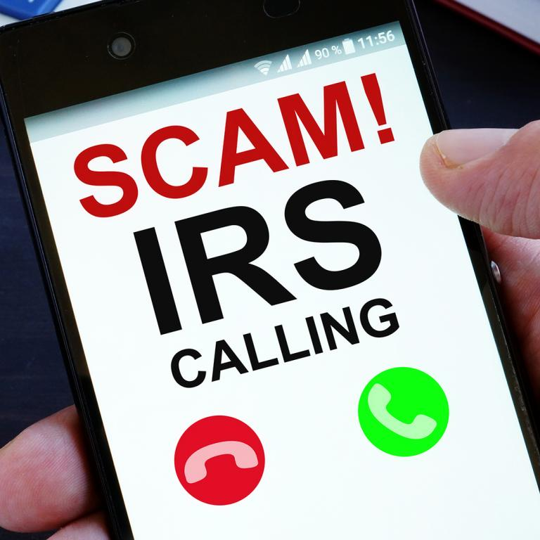 incoming IRS scam call