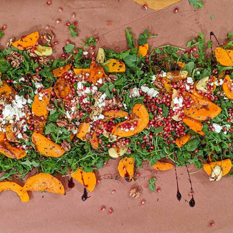 squash table salad