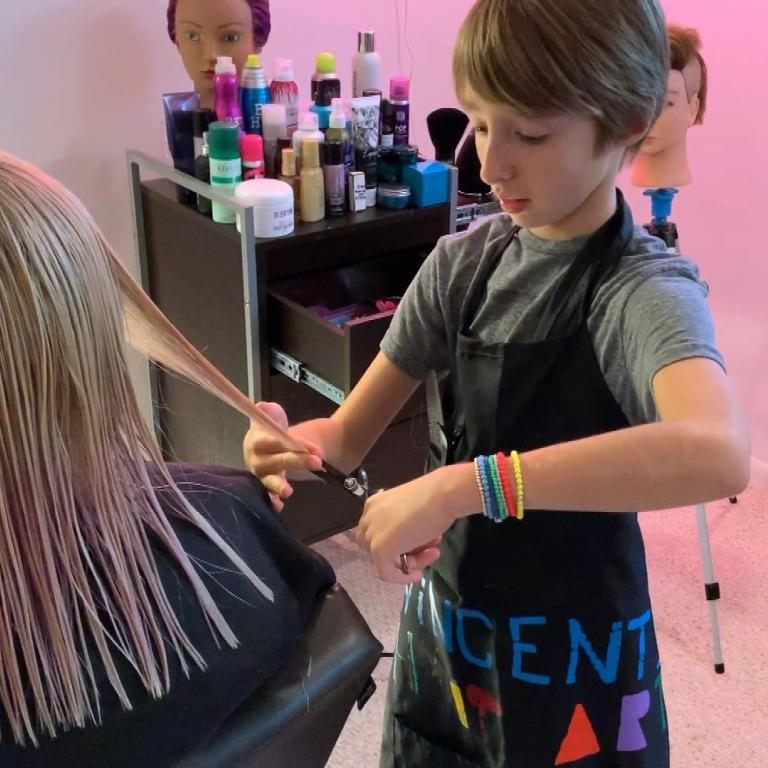 11-year-old hairstylist