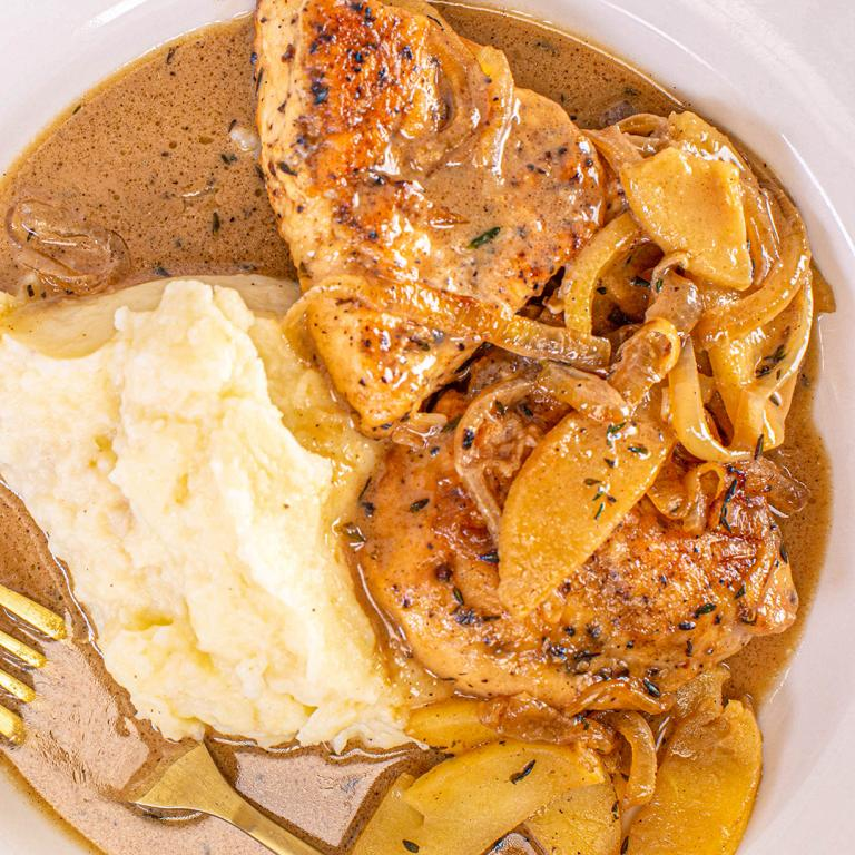Cider Chicken with Cream