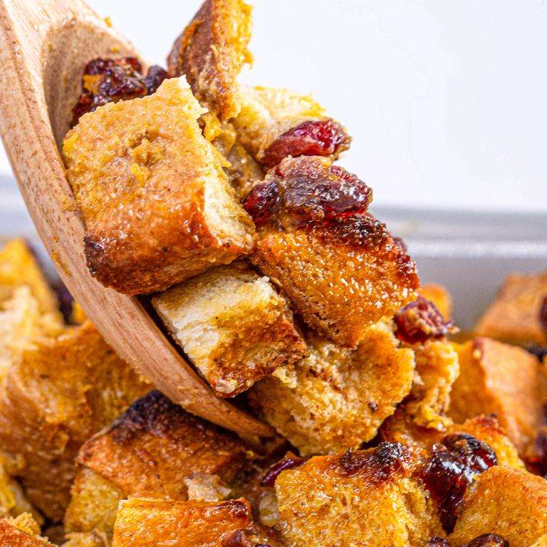 Maple-Pumpkin Bread Pudding