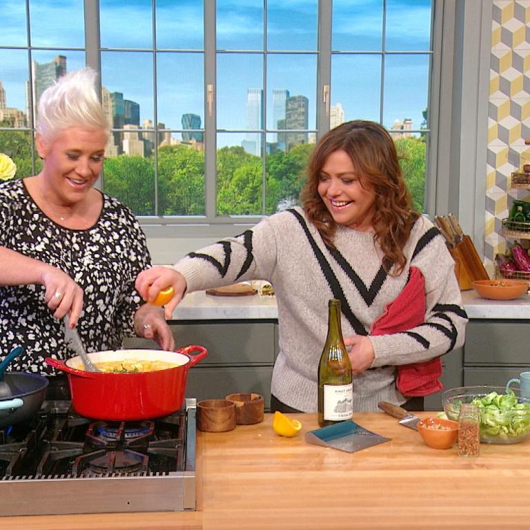 Anne Burrell and Rachael Ray