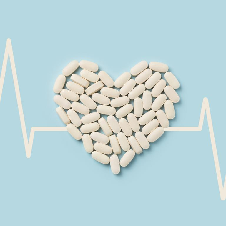 aspirin in a heart shape