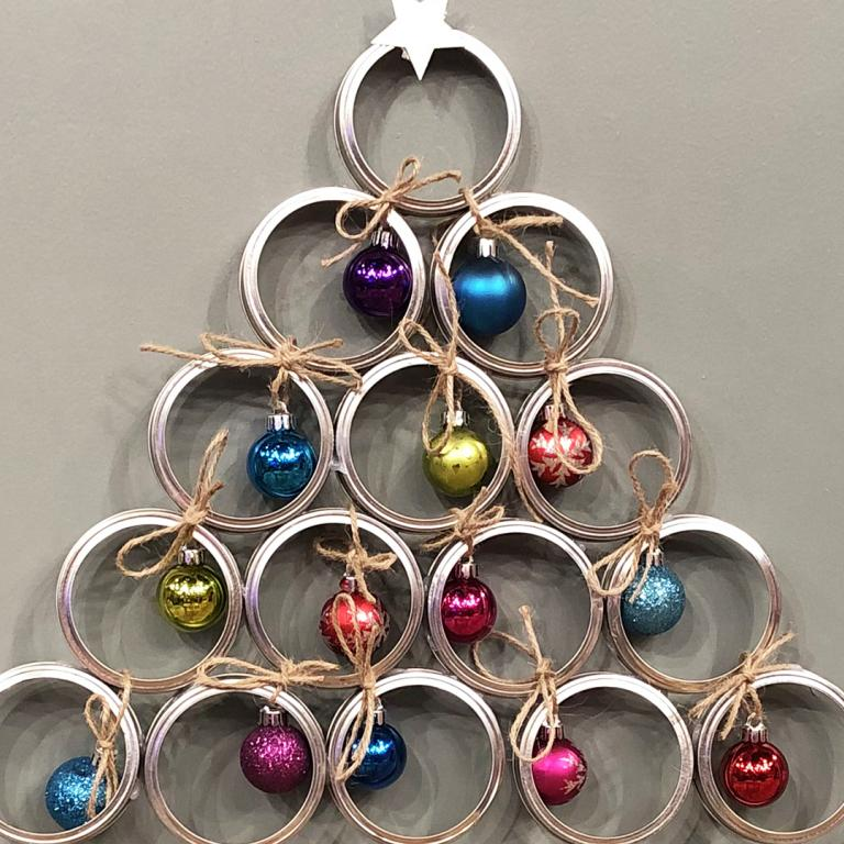 mason jar tree wreath