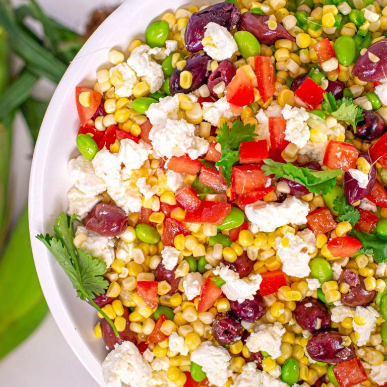 Corn Salsa With Olives + Feta