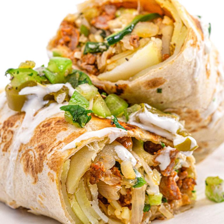 Crispy Chorizo and Potato Burritos