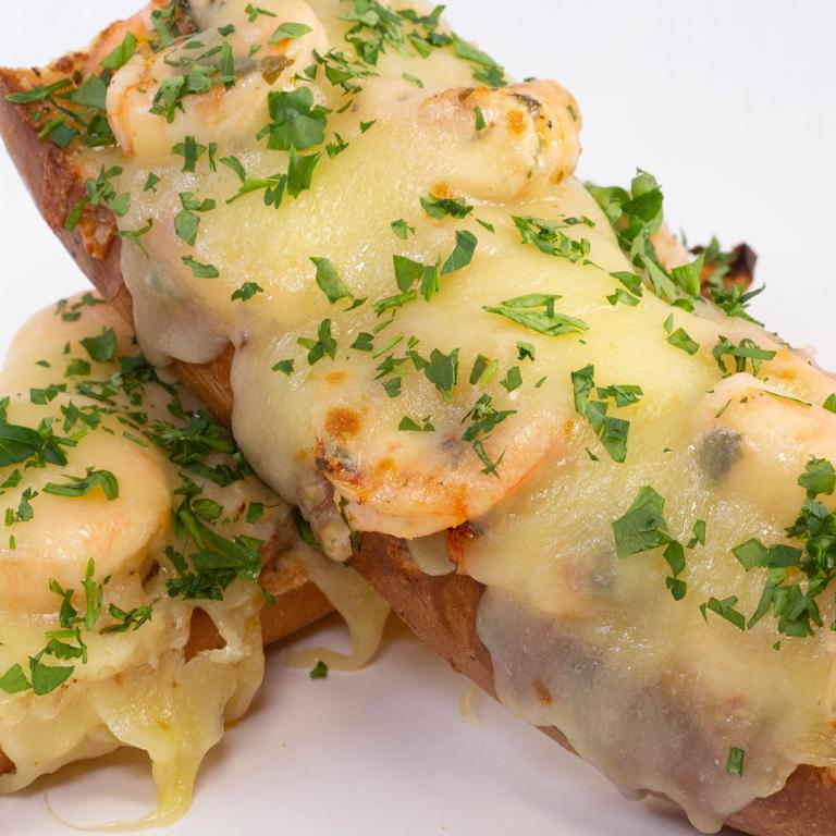 shrimp scampi french bread pizza