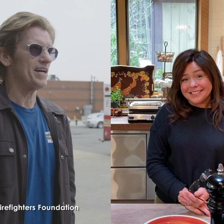 Denis Leary and Rachael Ray