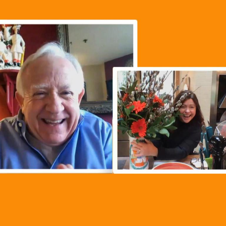 Leslie Jordan and Rachael Ray