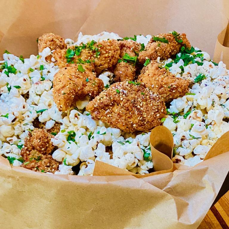 popcorn chicken with popcorn