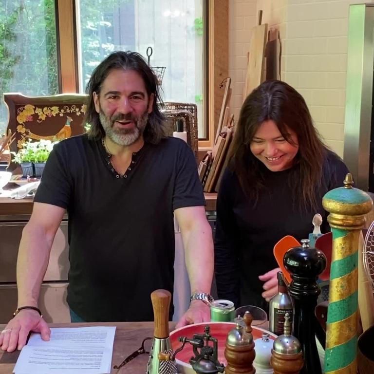 Rachael Ray and John Cusimano at home
