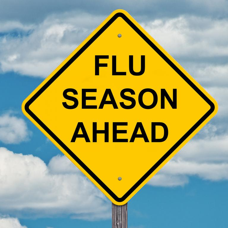 Flu Season Ahead sign