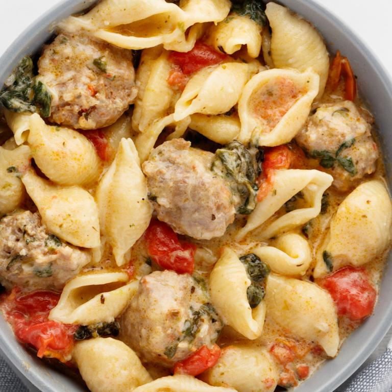 Instant Pot Sausage & Shells With Spinach & Artichoke Hearts